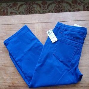 Style & Co NWT Denim Capri Blue Pants - 4